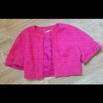 Trina Turk Hot Pink Tweed Cropped Jacket. Size 2. Never Worn. Professional  Photo