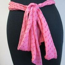 Trina Turk Light Pink W Pink Textured Silk & Rayon Tie Waist Belt One Sz B2084 Photo