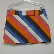 Trina Turk Los Angeles Stripe Mini Skirt Size 10 Photo