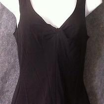 Trina Turk Los Angeles Womens S Black Stretch Top Tank Twisted Front Sleeveless Photo