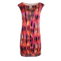 Trina Turk New Multi Matte Jersey Pattern Knee-Length Wear to Work Dress 4 Bhfo Photo