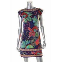 Trina Turk New Multi Matte Jersey Pattern Sleeveless Wear to Work Dress 0 Bhfo Photo