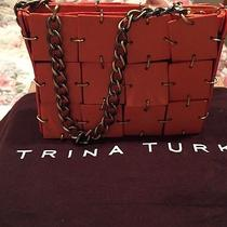 Trina Turk Orange/gold Small Bag Photo