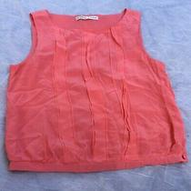 Trina Turk Pretty Pink 100% Silk Pleated Tank Top Shirt Blouse M 228  Sold Out Photo