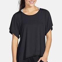 Trina Turk Recreation Cutout Jersey Tee Top Shirt Black Size Large Photo