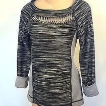 Trina Turk Recreation Grey and Black Sweat Shirt Knit Top Size Xs Photo