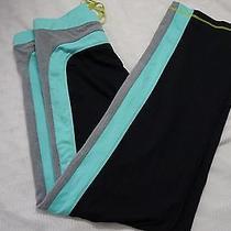 Trina Turk Recreation Stripe Track Pants Black Size L-116 Photo