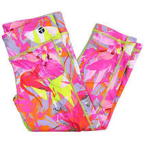 Trina Turk Recreation Womens Pink Multi Orchid Print Crop Legging L New Photo