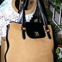 Trina Turk Shoulder Bag Brown Leather Gently Used Designer Purse Photo