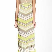 Trina Turk Storm Chevron Stripe Knit Maxi Dress (Size S ) Photo