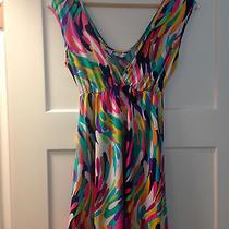 Trina Turk Stretch Beach Coverup Dress Bright Color Pattern Size Small Photo
