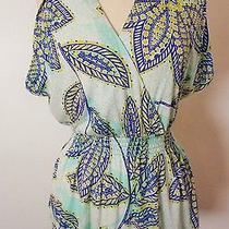 Trina Turk Top Size S Floral Print Sleeveless Tencel Knit  New Photo