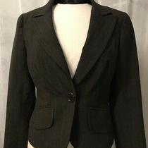 Trina Turk Women's Blazer Brown Pinstriped 1 Button Fully Lined Size 4 Photo