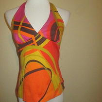 Trina Turk Women's Bright Colorful Dressy Halter Tank Top 6 Small Ethankeith1 Photo
