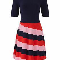 Trina Turk Women's Dress Pink Blue Size Small S Sheath Striped-Skirt 368- 403 Photo