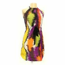 Trina Turk Women's Dress Size L  Orange Yellow Purple  Good Condition Photo