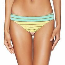 Trina Turk Women's Swimwear Pink Green Size 4 Striped Bikini Bottom 65- 681 Photo