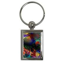 Tropical Fish Fantasy Fractal Key Chain Chrome Photo