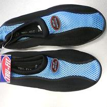 Tru-Fit Blue/black Aqua Socks / Water Shoes Size 5-6 Nwt Photo