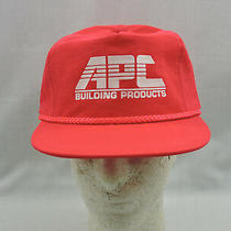 Trucker Hat Ball Cap Red Imprint Apc Building Products One Size Snapback Corded Photo