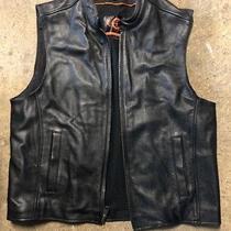 True Element Leather Motorcycle Vest - Size Large Photo