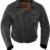 True Element Premium Motorcycle Leather Jacket - Ce Standard a -Medium Photo