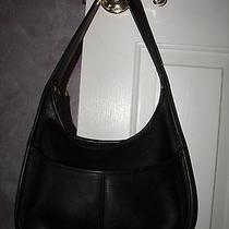 True Original Vintage Coach Made in Usa 9033 Ergo Shoulder Bag Black Leather Tag Photo