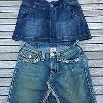 True Religion and American Eagle Short Skirts Size 2 / 26 Photo