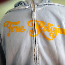 True Religion Baby Blue Hoodie Size Large 248 Photo