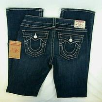 True Religion Becky Mid Rise Boot Cut Blue Jeans Sz 30 Measure 34 New Tags 176 Photo
