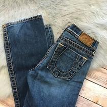 True Religion Bobby Big T Jeans 14 Blue Designer Denim Pockets 100% Cotton Photo