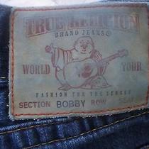 True Religion Bobby Row Seat Men's Blue Jeanssize 34 Photo