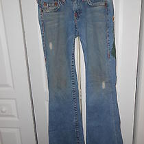 True Religion Brand Jeans--Embroidered Grunge Style--Size 28 Photo