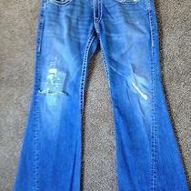 True Religion Brand Jeans Joey Big T Blue White World Tour Men's Row 36 Seat 34 Photo