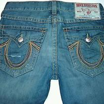 True Religion Brand Jeans Mens 34 Billy Rainbow Authentic Euc Photo