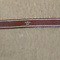 True Religion Brown Leather Belt With Silver Buckle Size 32 Photo