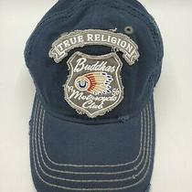 True Religion Buddhas Motorcycle Club Patch Distressed Strapback Hat Cap Photo