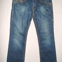 True Religion Dark Blue Whiskered Style Bootcut Billy Big T Jeans Seat 34 Photo
