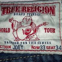 True Religion Denim Section-Joey Flap Back Pockets Mens Jeans Row-33 Seat- 34 Photo