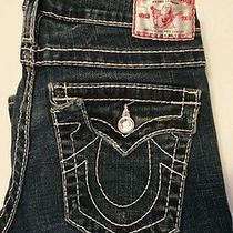 True Religion Disco Julie Big T Blue Jeans Jeweled Skinny Jeans Mid Rise 28x29 Photo