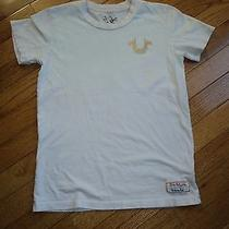 True Religion Girl's T-Shirt Size Large (8-10) Cream-Colored Photo