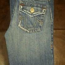 True Religion Girls Denim  Jeans Sz 12 Seat 30 Joey  Super Cute Photo