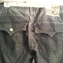 True Religion Gray Fine Corduroy Ricky Jeans Seat 34 Photo