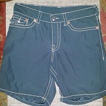 True Religion  Gray Surf Shorts  Sz 38 Photo