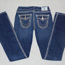 True Religion Hi-Rise Slim-Boot Legdark Blueflap Pocketswak564nb3 W25xl34 Photo