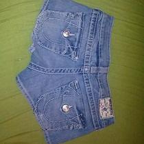 True Religion Jean Shorts Size 25 Gently Worn Photo