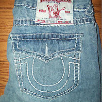True Religion Jeans  Joey Super T Light Wash  Row 34 Seat 33 Photo