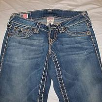 True Religion Jeans Section Billy Super T Seat Size 24 Authentic Low Rise Photo
