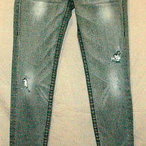 True Religion Jeans Section Disco Julie Seat Denim World Tour Pants Crystal 30 Photo