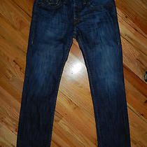 True Religion Jeans Section Row Seat Boot Cut Style 100%Cotton Sz 33 Photo
